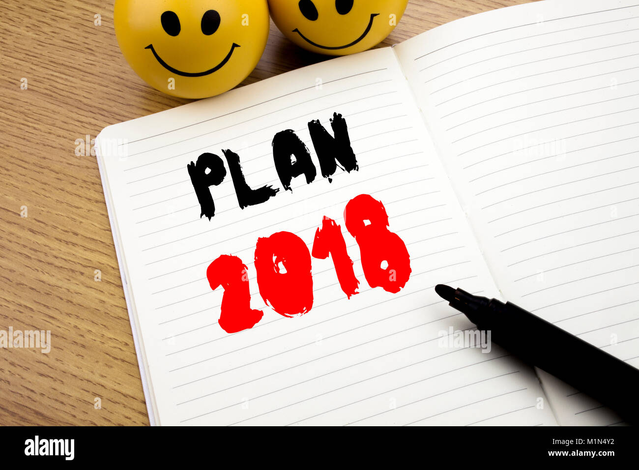Handschriftliche Bildunterschrift Übersicht Plan 2018. Business ...