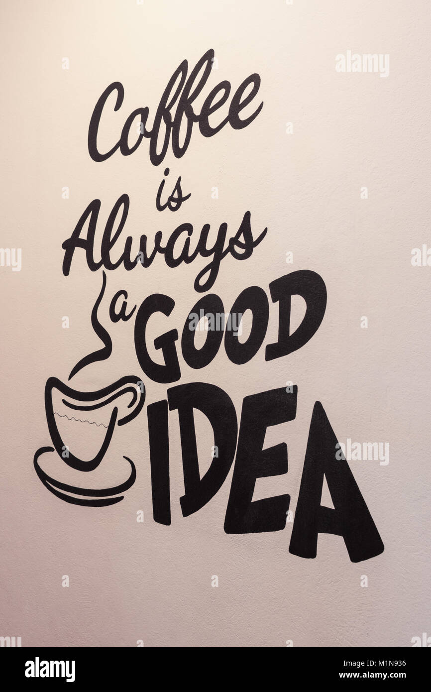 Kaffee Ist Immer Eine Gute Idee Ein Angebot Für Eine Texturierte