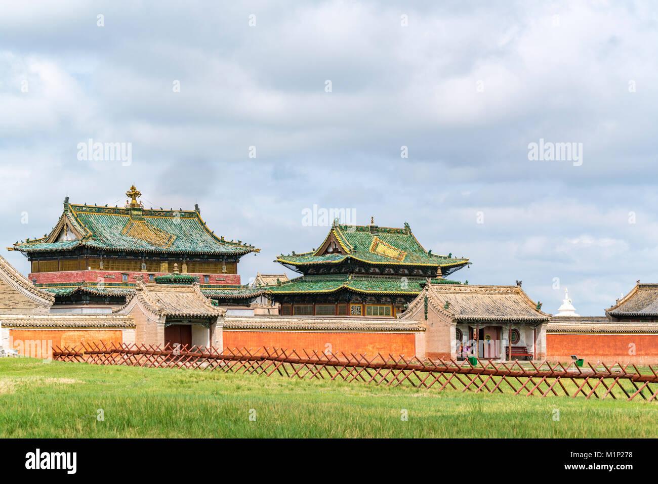 Tempel in Erdene Zuu Kloster, Harhorin, im Süden der Provinz Hangay, Mongolei, Zentralasien, Asien Stockbild