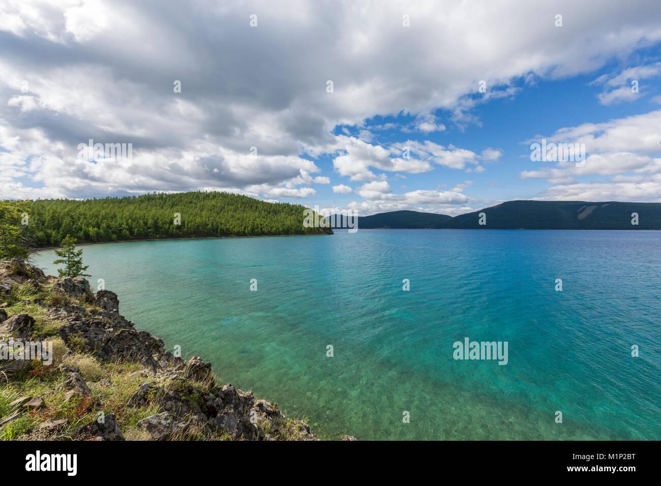 Hovsgol See, Provinz Hovsgol, Mongolei, Zentralasien, Asien Stockbild