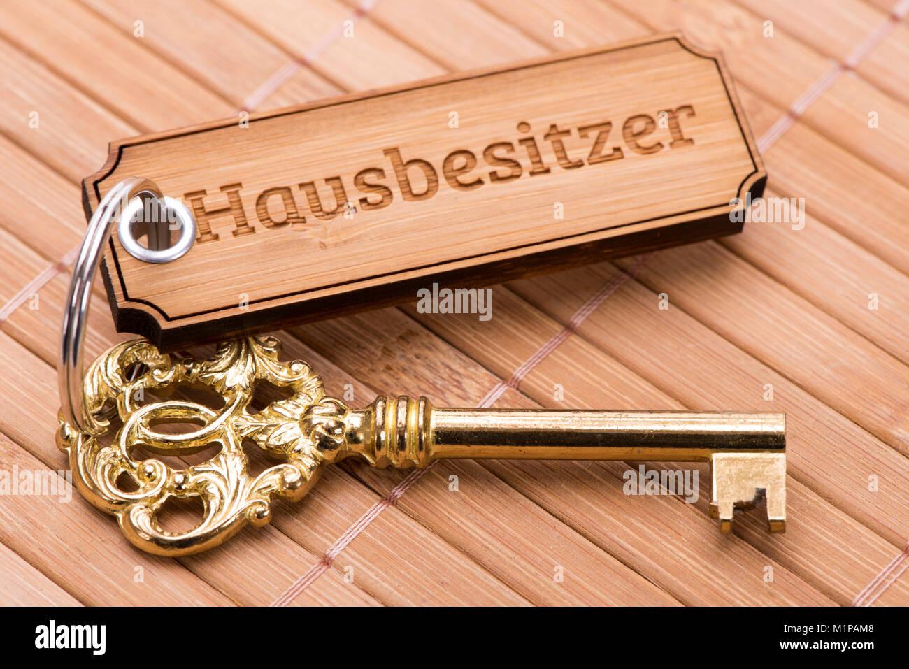Hausschlüssel für neue Hausbesitzer Stockbild