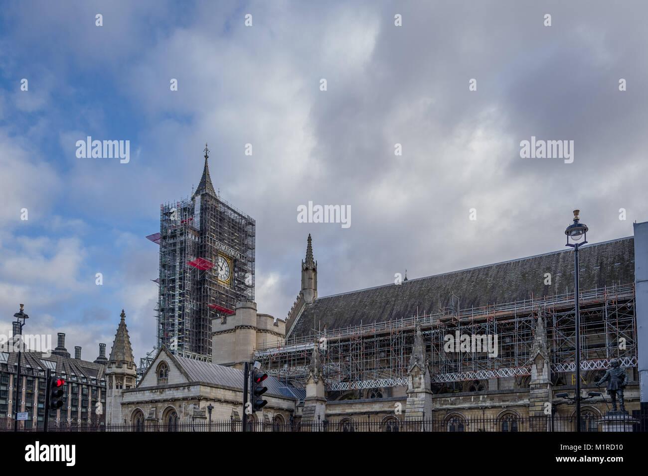 London, London, Großbritannien. 1 Feb, 2018. Britische Parlament ...