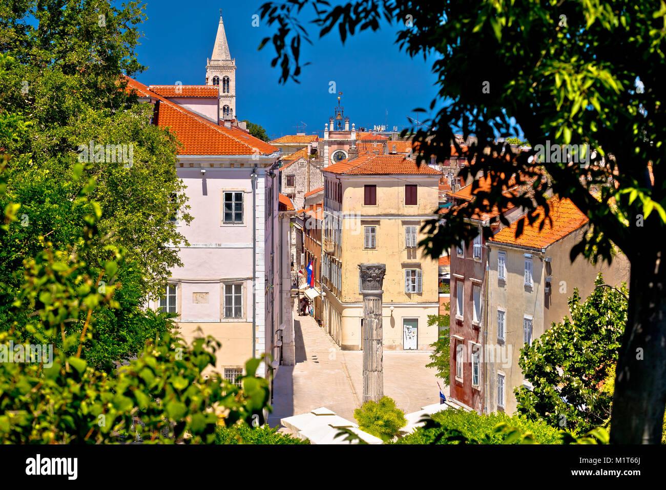 Kalelarga und historischen Zadar Sehenswürdigkeiten Blick durch ...