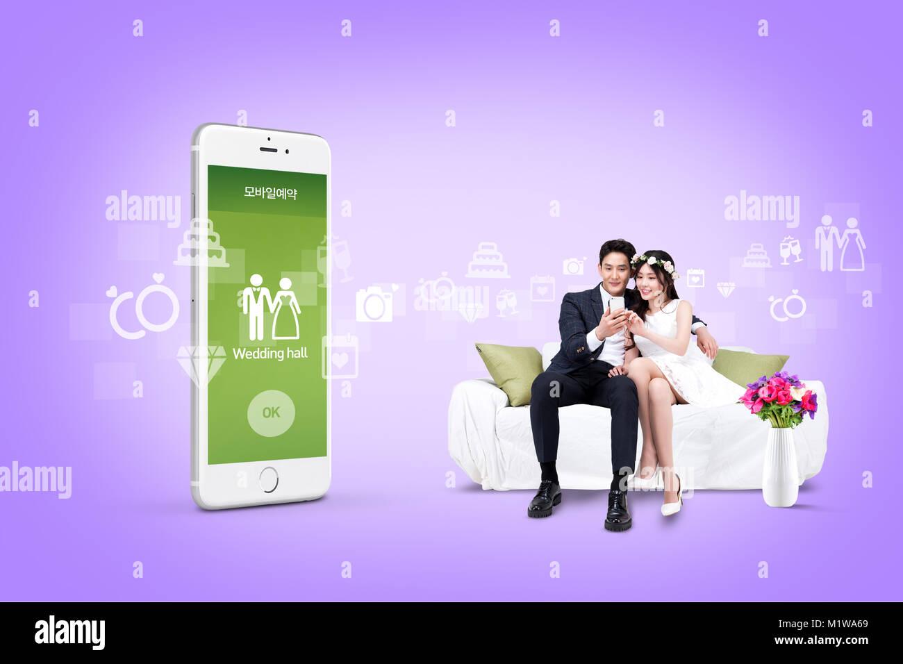 Abbildung - mobile Technologie, eng beziehen sich auf das alltägliche Leben. 006 Stockbild
