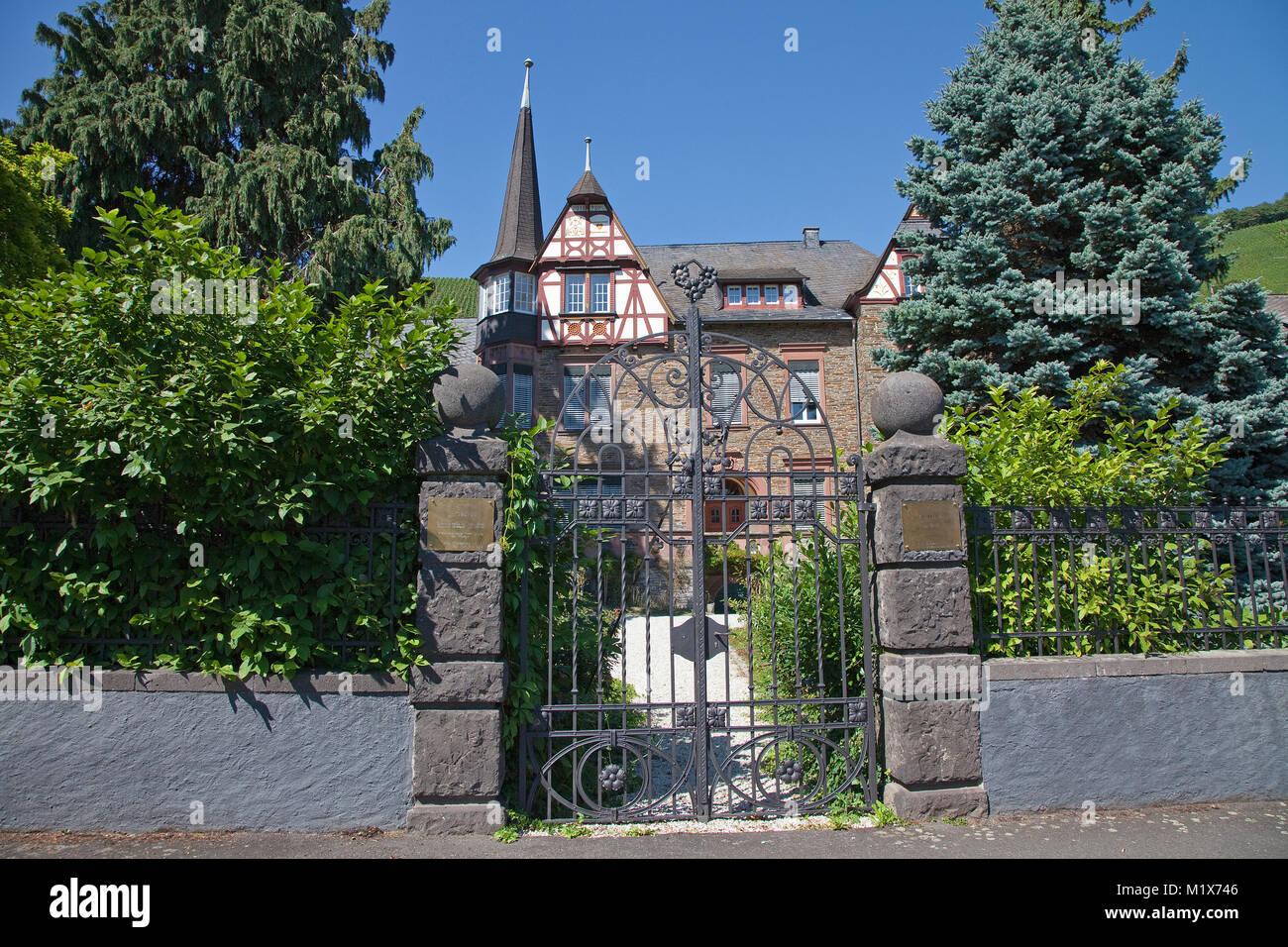 Einzellage Berres bei weindorf Uerzig, Mosel, Rheinland-Pfalz, Deutschland, Europa Stockbild