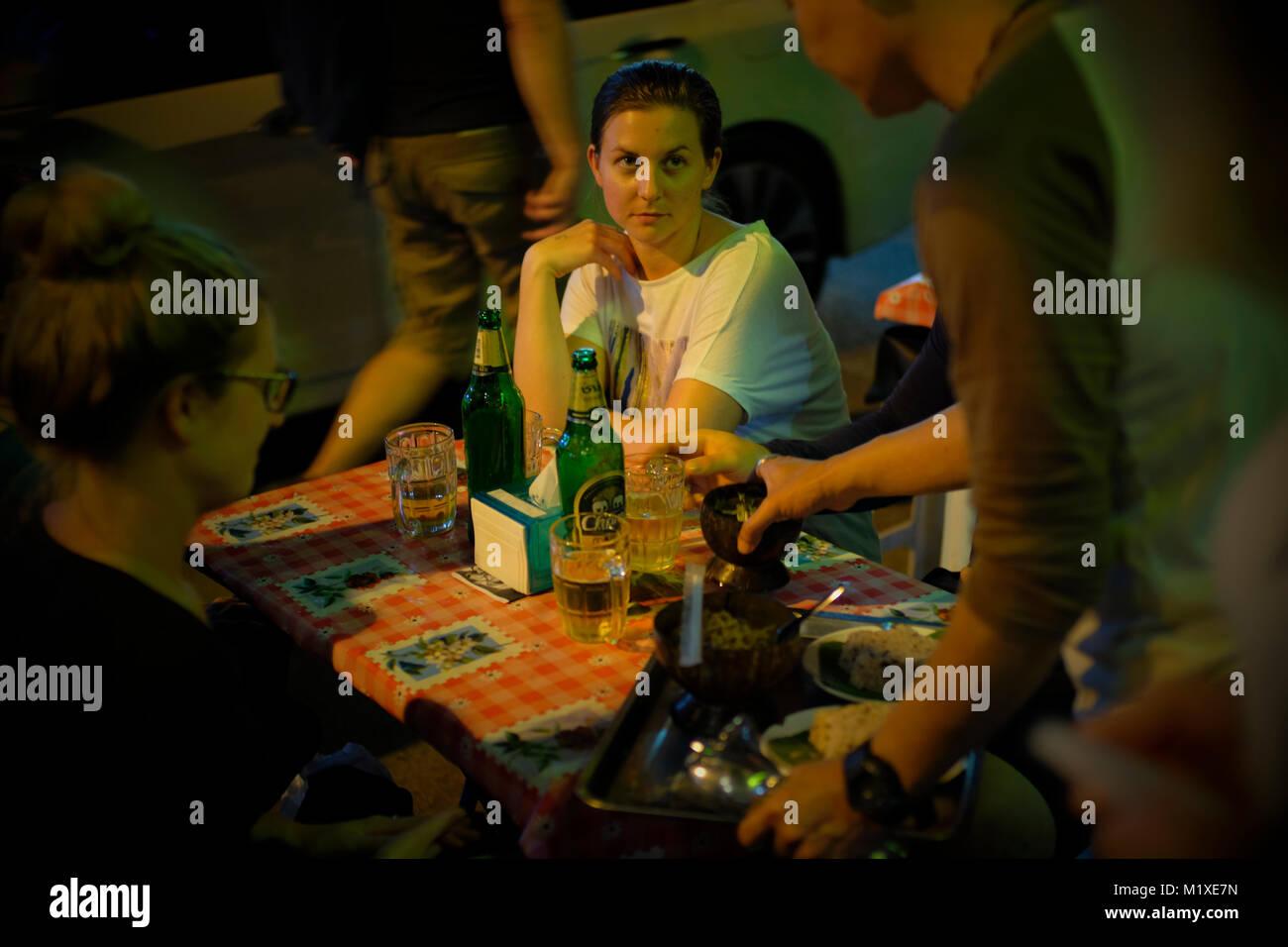 Chiang Mai Nachtleben. Stockbild