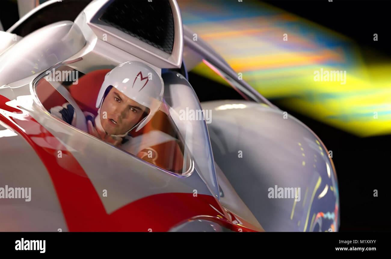 SPEED RACER 2008 Warner Bros Film mit Emile Hirsch Stockbild