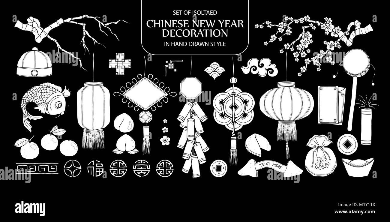 Chinese New Year Vector Vectors Stockfotos & Chinese New Year Vector ...