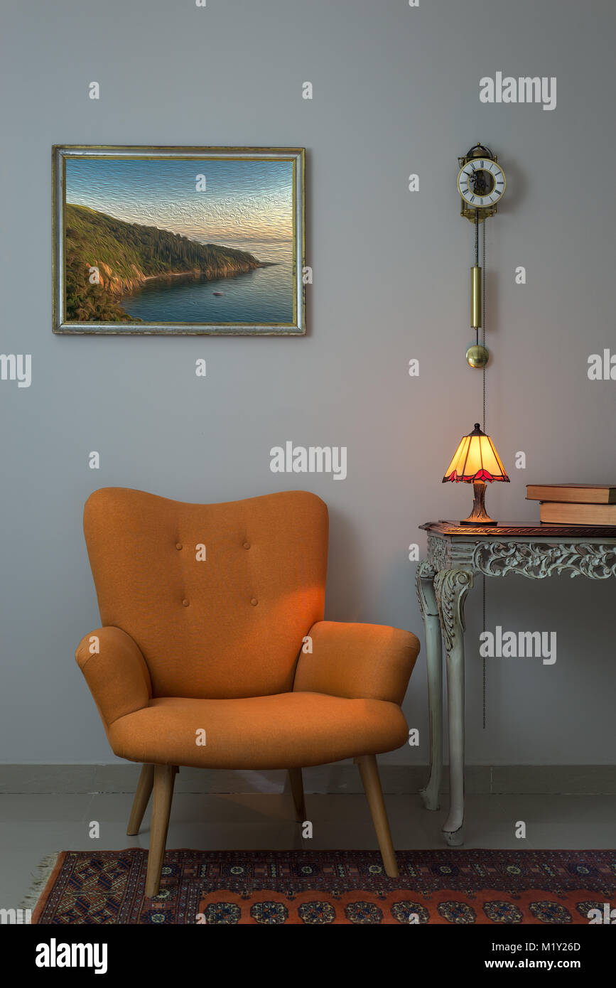 jahrgang mobel innere zusammensetzung der retro orange sessel vintage holz beige tabelle