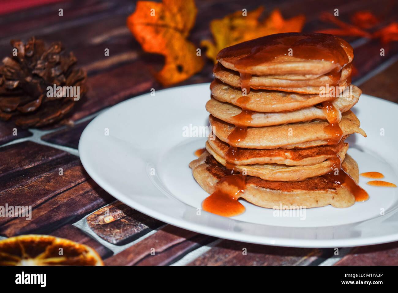 Amerikanische Pfannkuchen Stockbild