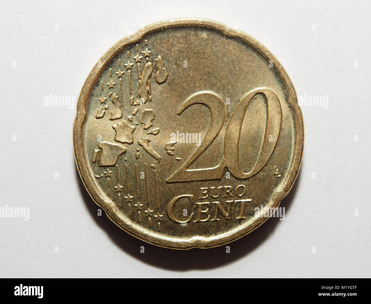 Ein Euro 20 Cent Münze Stockfoto Bild 173324271 Alamy