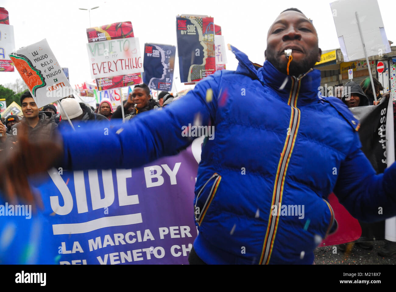 Chioggia Venedig Italien 3 Februar 2018 März Ide An Seite