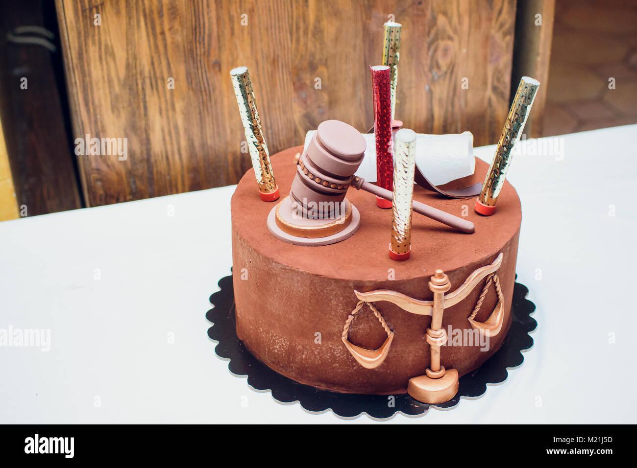 Braut Und Brautigam Cake Topper Paar Mit Juristischen Hammer