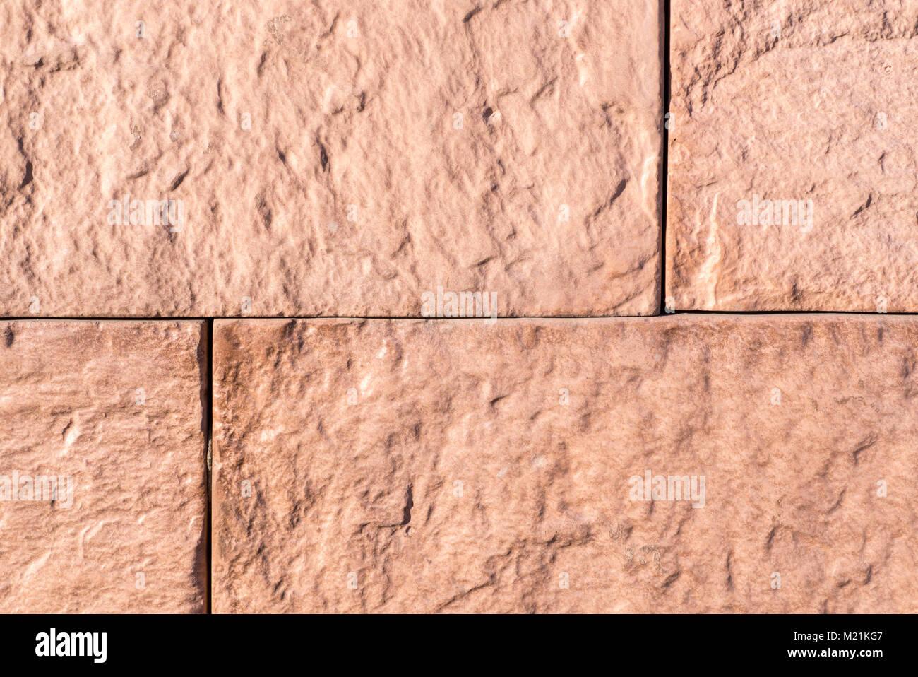 Orange Sandstein Fliesen Wand Textur Hintergrund Stockfoto Bild