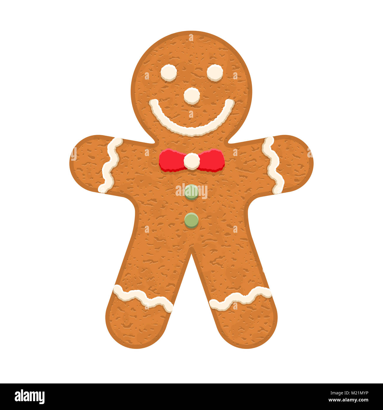 Weihnachtsplätzchen Clipart.Gingerbread Man Traditionelle Weihnachtsplätzchen Vector Eps 10