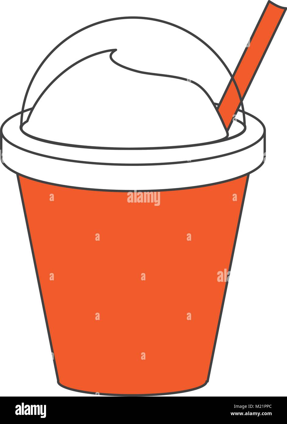 Frappe Kaffee Tasse Stock Vektor