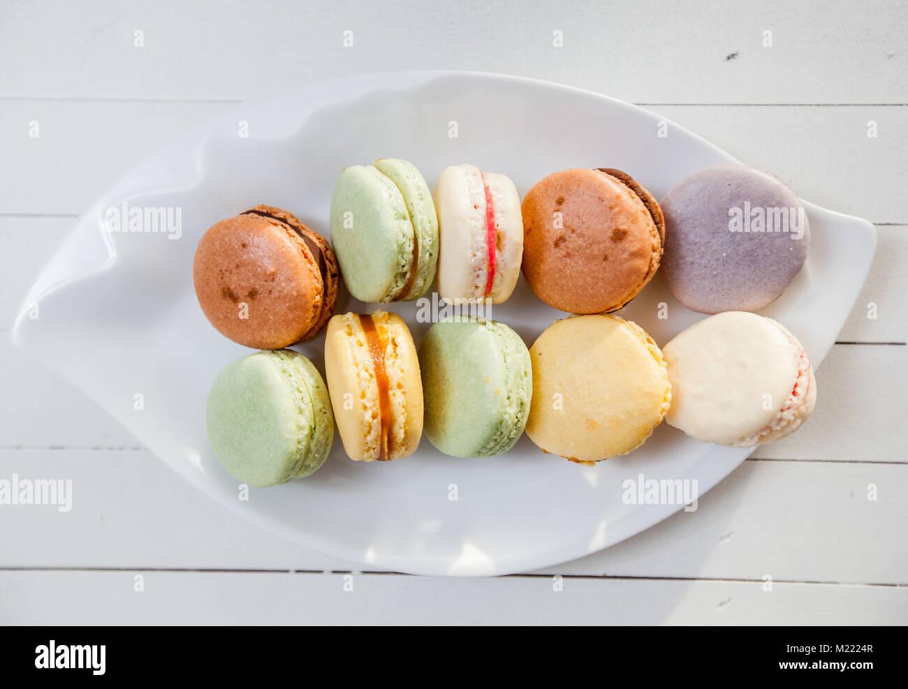 Bunten Kuchen Franzosische Macarons Handgefertigte Almond Cookies