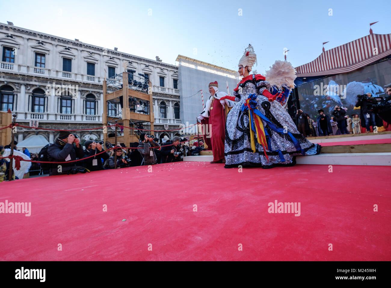 Venedig, Italien. 4 Feb, 2018. Elisa Costantini Maria des Jahres ...