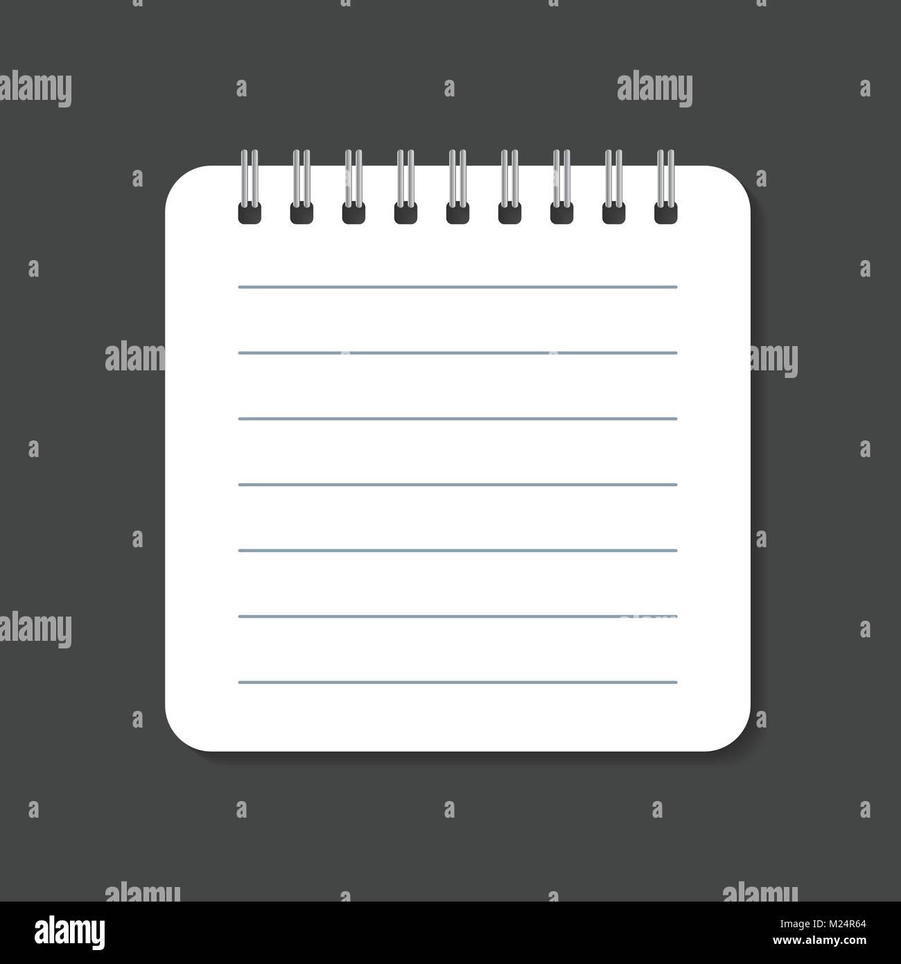 Realistische Vorlage Notizblock Mit Spirale Die Ausgestanzte