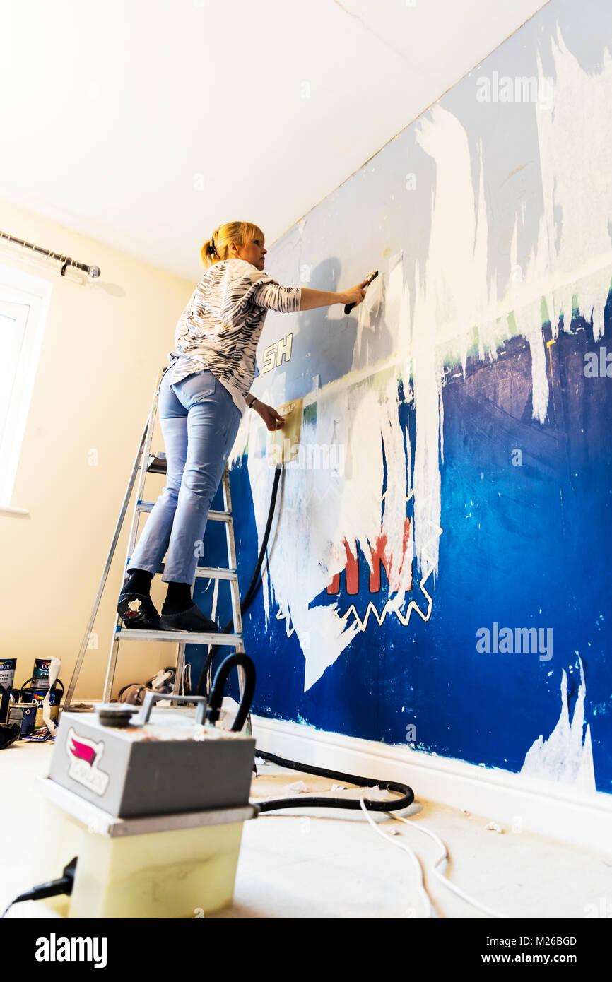 Stripping Tapete Von Der Wand Tapete Stripping Hintergrundbild