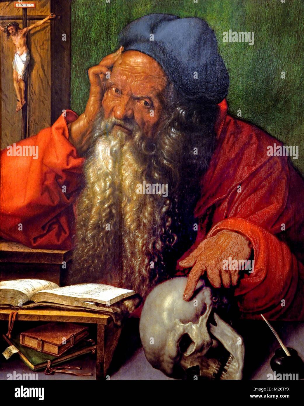 Der hl. Hieronymus 1521 Albrecht Dürer 1471 - 1528 Deutscher Deutschland Stockbild
