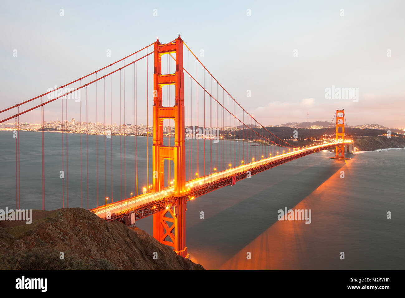 Die Golden Gate Bridge in San Francisco, Kalifornien Stockbild