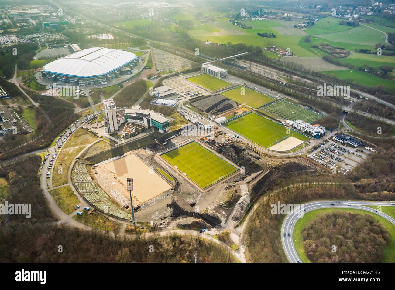 Bauvorhaben bergerfeld zu restrukturieren und der club des fc schalke 04 erweitern auf dem - Vogelperspektive englisch ...