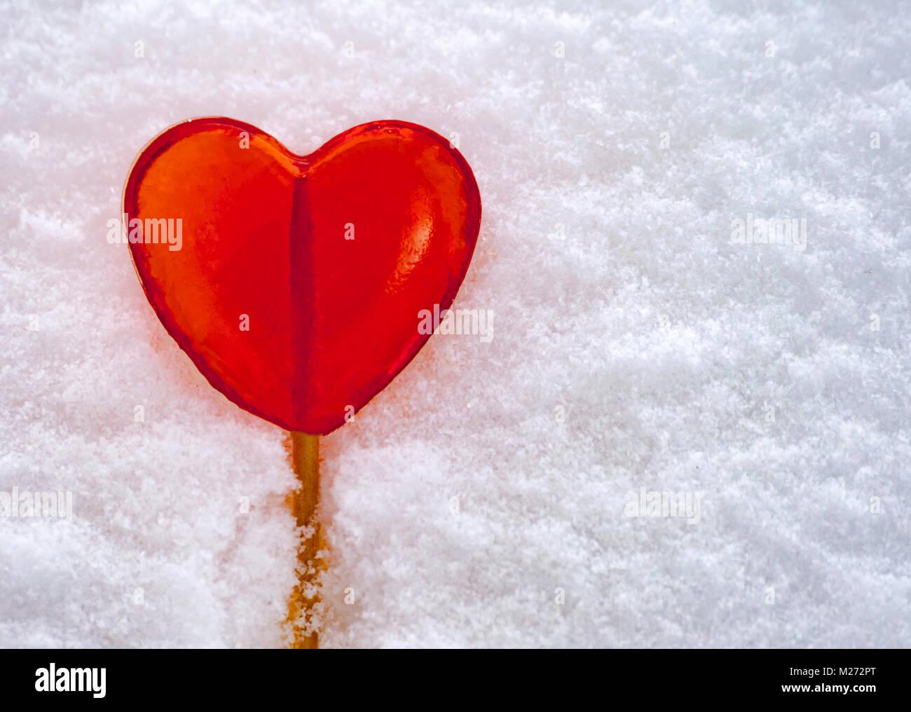 Heart Shape In Snow Stockfotos & Heart Shape In Snow Bilder - Seite ...