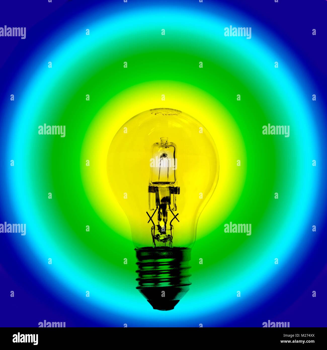 Halogen-Glühlampe Stockbild