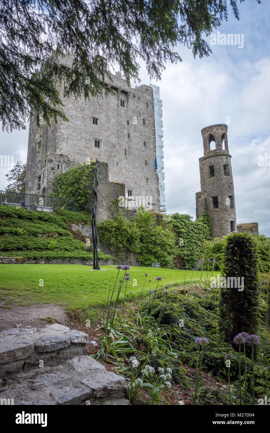 Blarney Castle und Gärten, County Cork, Irland Stockbild