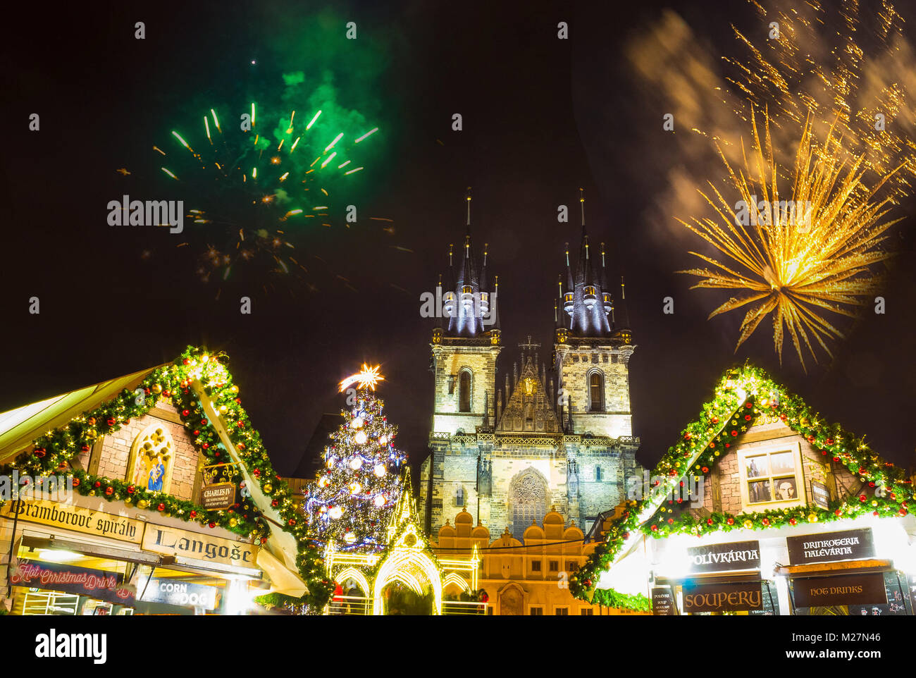 Frohe Weihnachten Und Ein Gutes Neues Jahr Tschechisch.Czech New Year Stockfotos Czech New Year Bilder Alamy