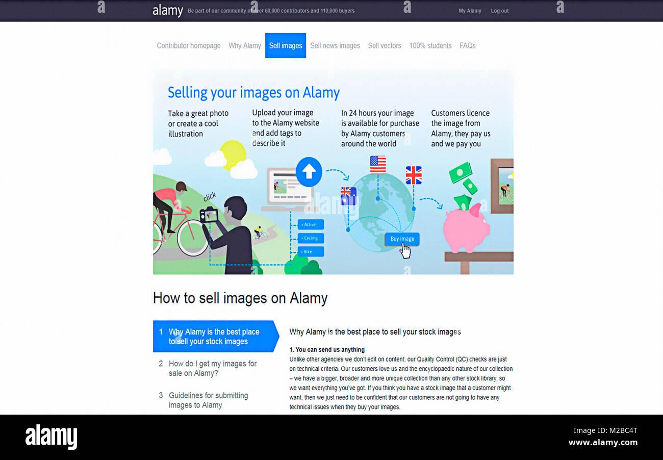 Willkommen verkaufen Ihre Bilder bei Alamy Stockbild