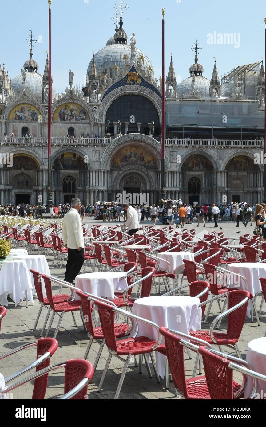 Venedig Italien, Markusplatz Stockbild