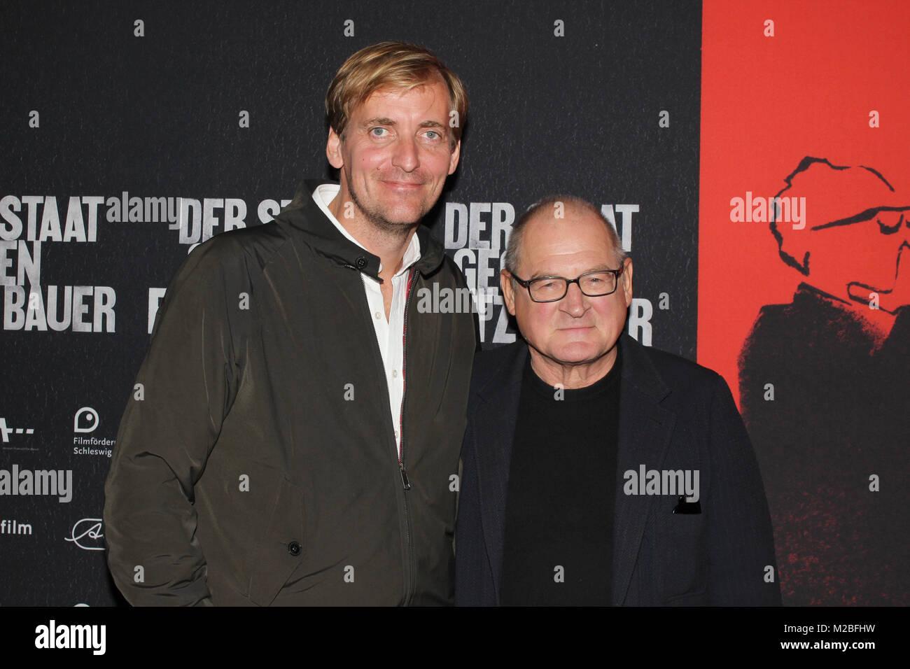 "Lars Kraume, Burghart Klaussner, Premiere ""der Staat gegen Frtiz Bauer, Abaton Hamburg, 28.09.2015 Stockbild"
