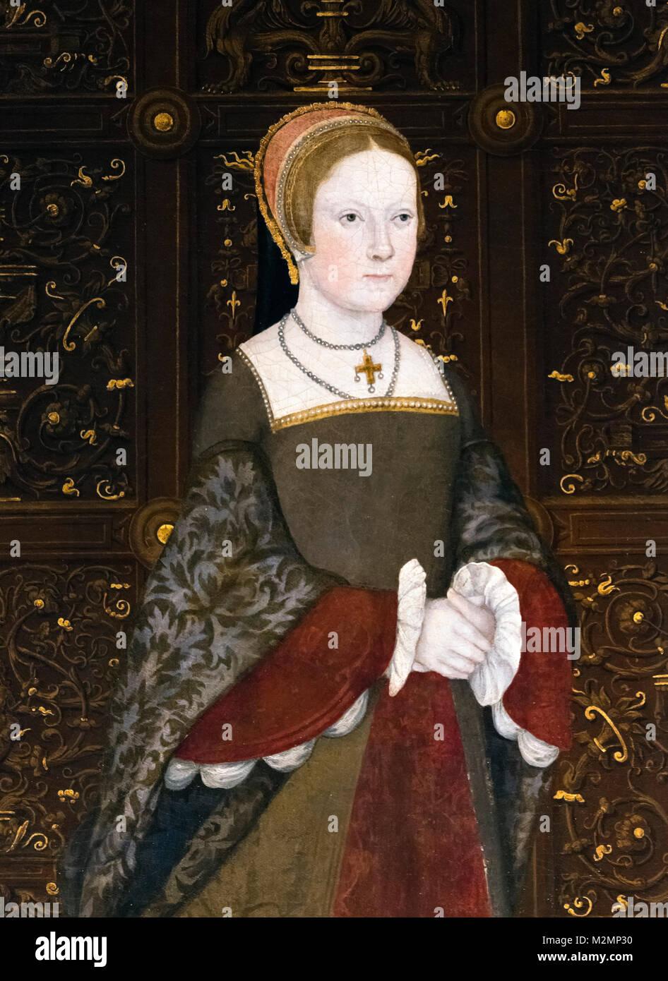 Ich Maria (1516-1558). Portrait der zukünftigen Königin Maria I. von England als Prinzessin Maria im Alter Stockbild