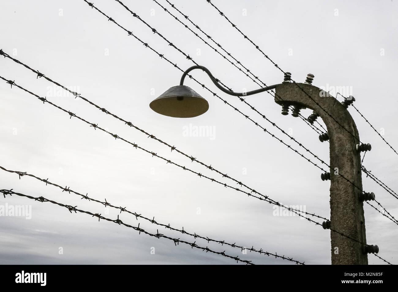 Die ehemaligen deutschen nationalsozialistischen Konzentrations- und Vernichtungslager von Auschwitz Birkenau II. Stockbild