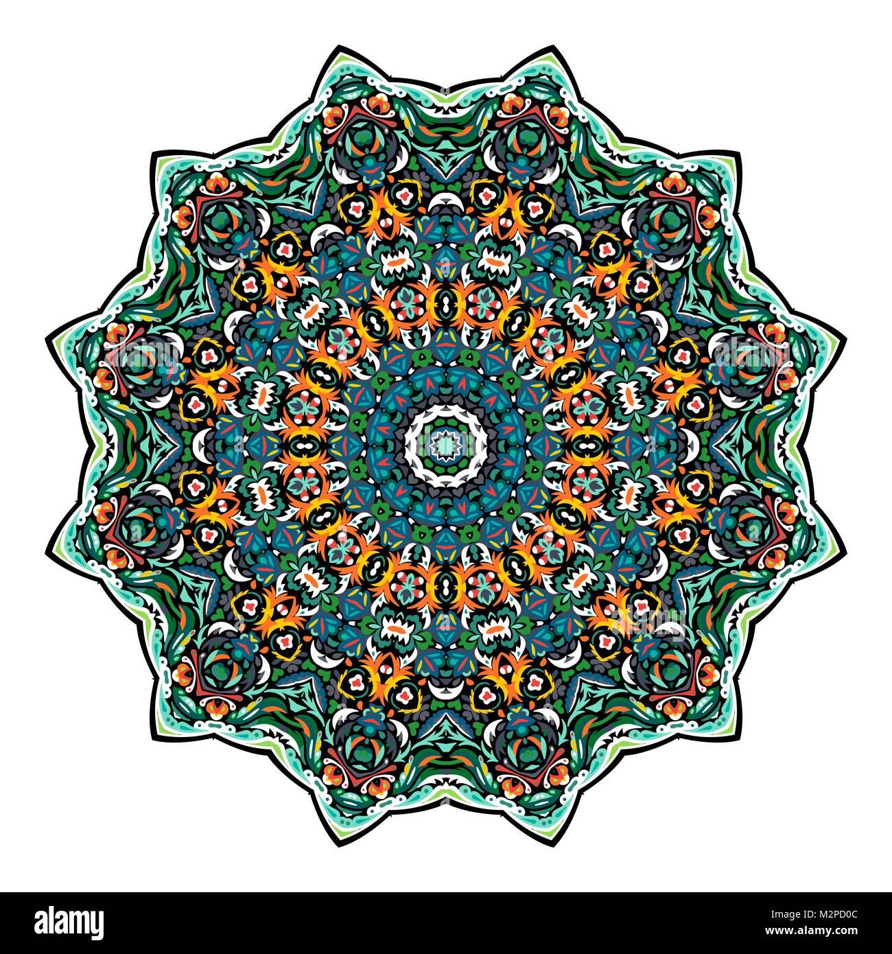Blume Mandala. Vintage dekorative Elemente. Orientalische Muster ...