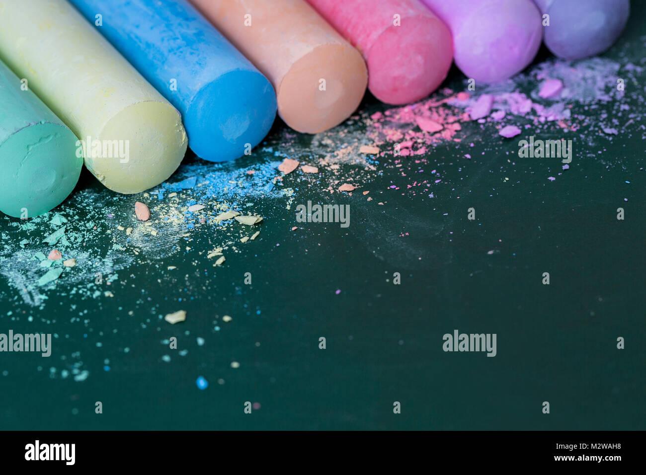Pastel Chalk Arrangement Stockfotos & Pastel Chalk Arrangement ...