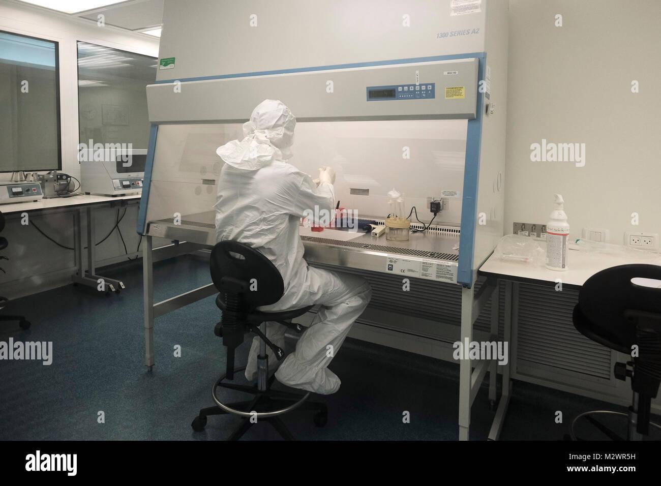 Labortechniker innerhalb des \
