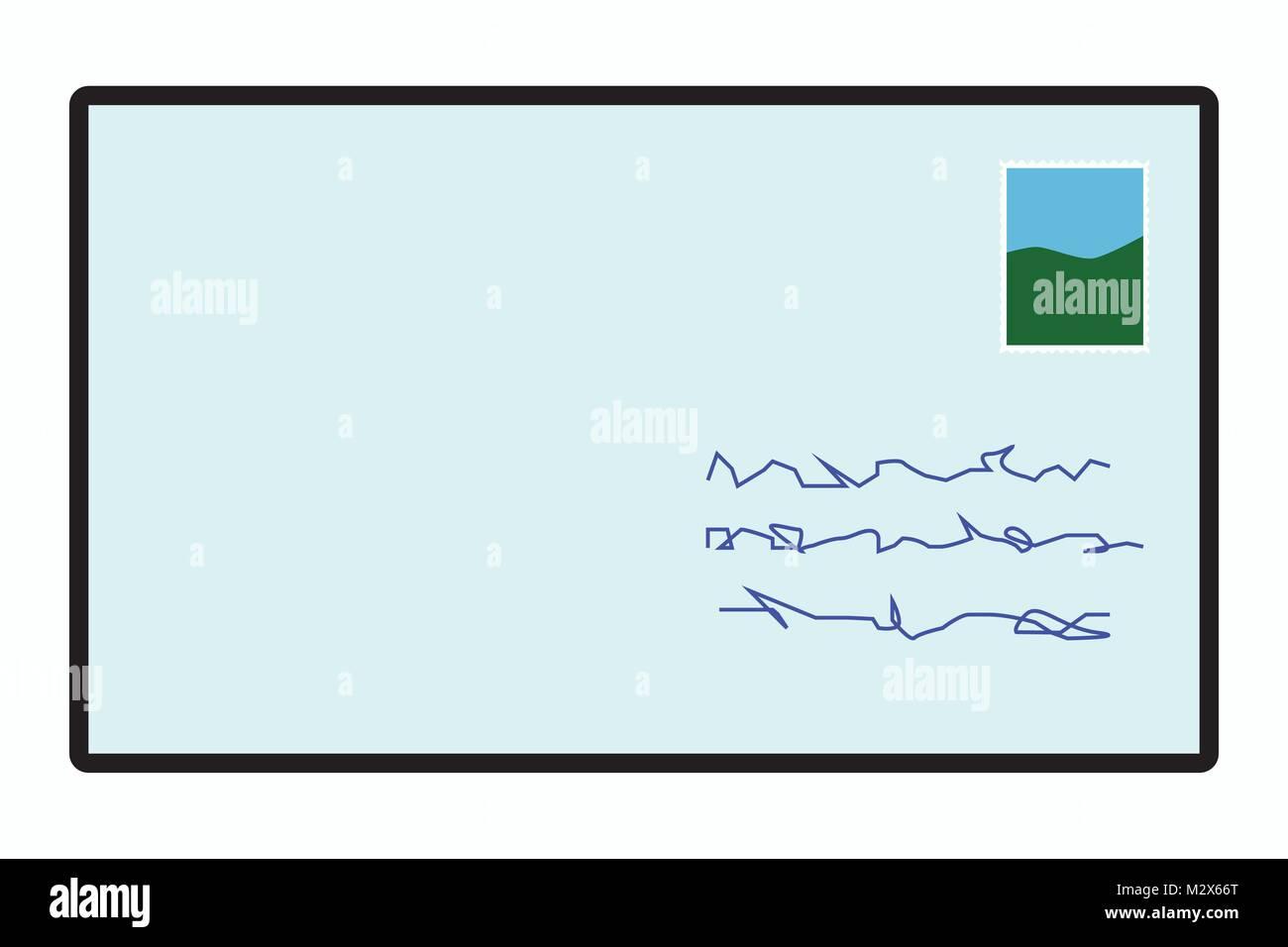 Symbol Mail Post Brief Symbol Illustration Der Umschlag Mit Dem