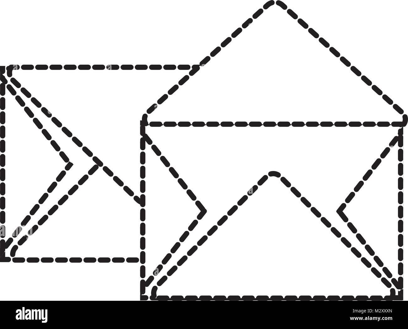Gepunktete Form E Mail Schreiben Nachricht Design Vektor Abbildung