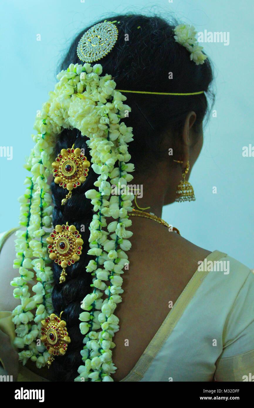 Hochzeit Frisuren Indische Braut Frisuren Stockfoto Bild