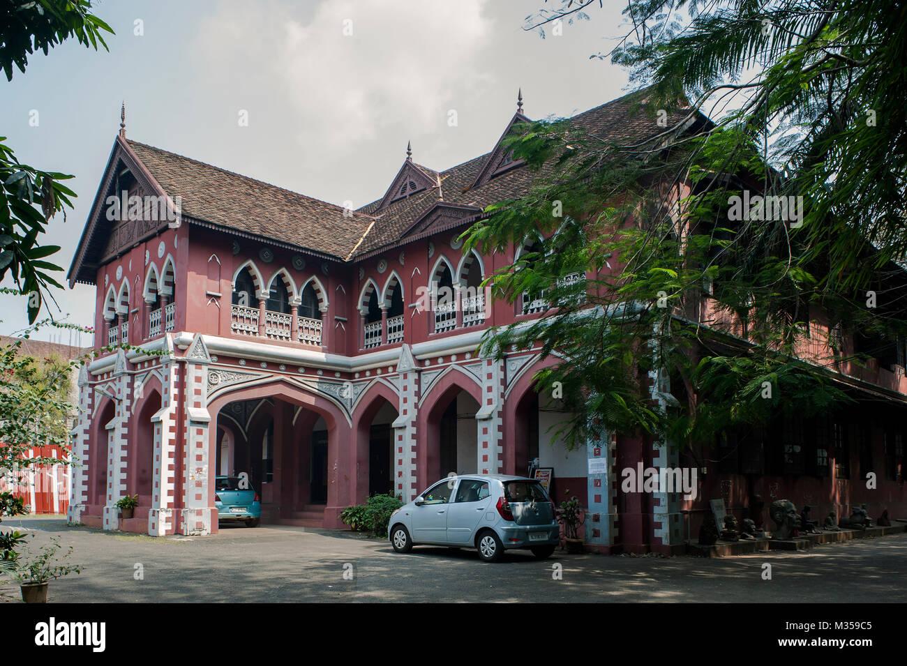 Hochschule für Bildende Künste, Trivandrum, Kerala, Indien, Asien Stockbild