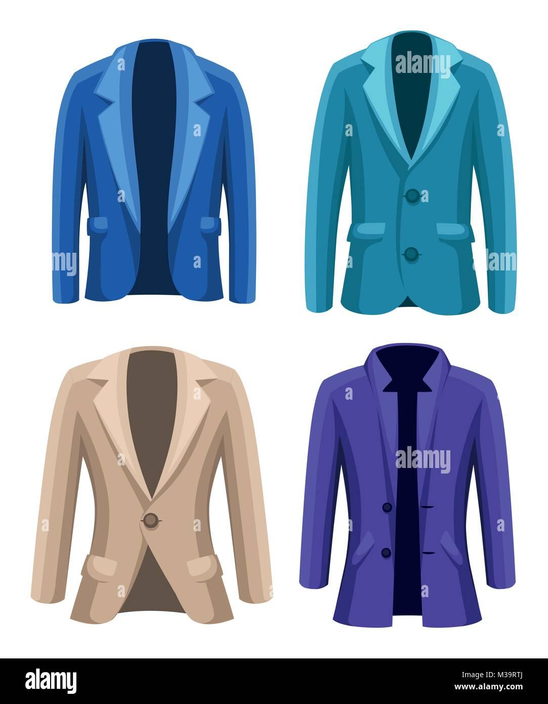 Beige jacke blau farben