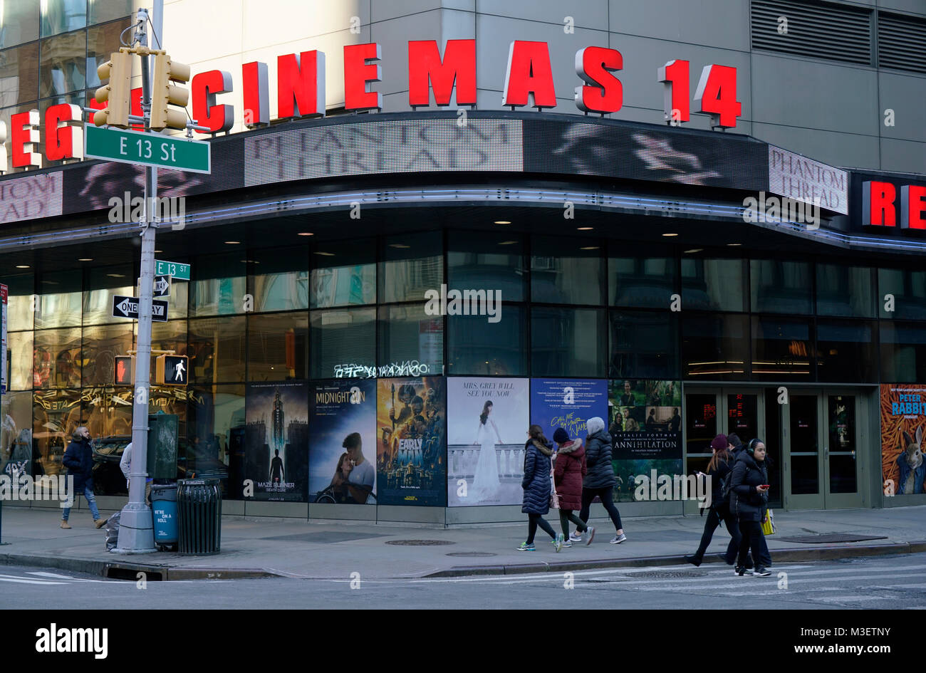 Regal Union Square Stadium 14 Kino. Manhattan, New York City, USA. Stockbild