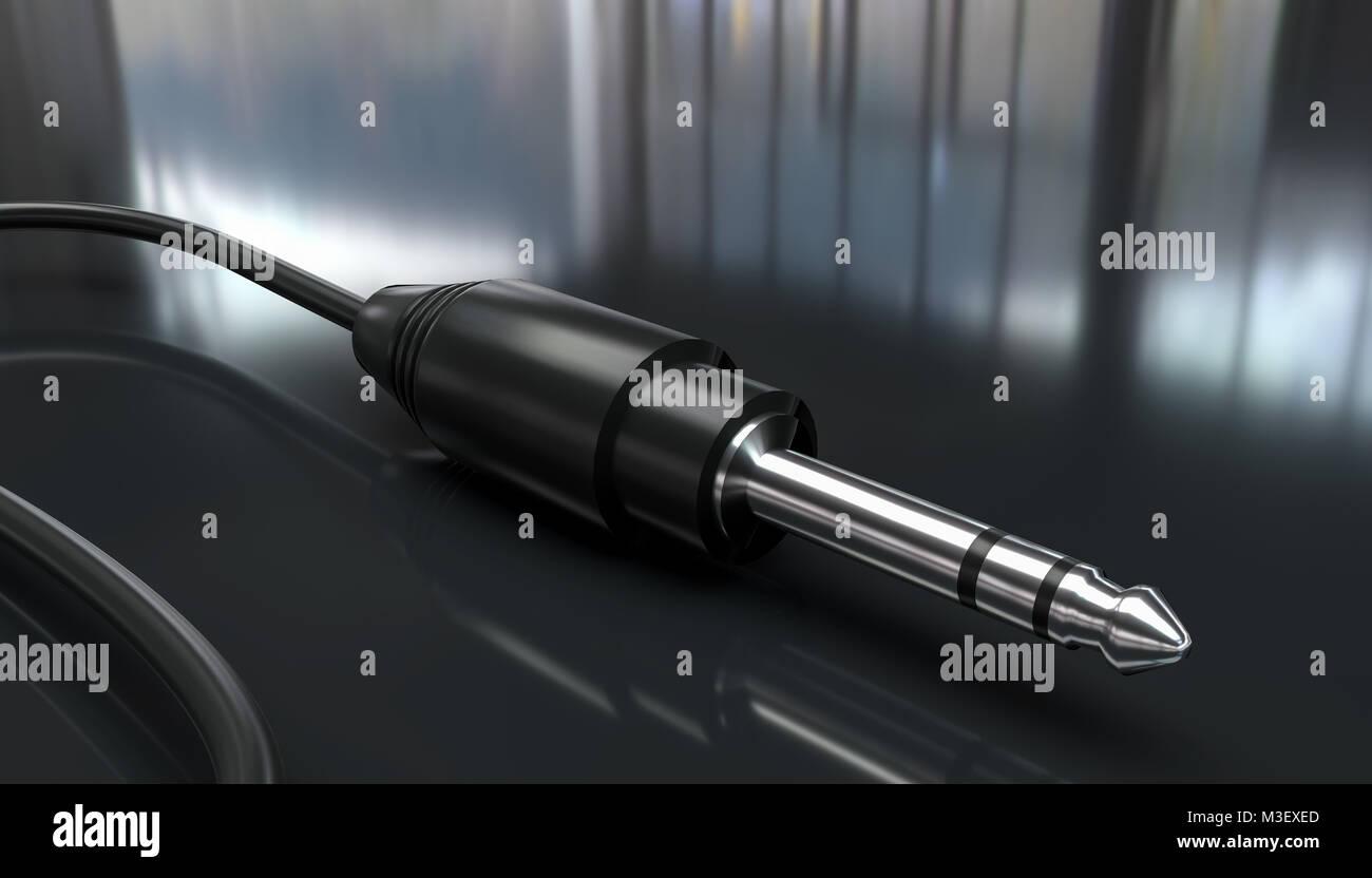Kabel Klinkenstecker Computer Graphics Rendering Stockbild
