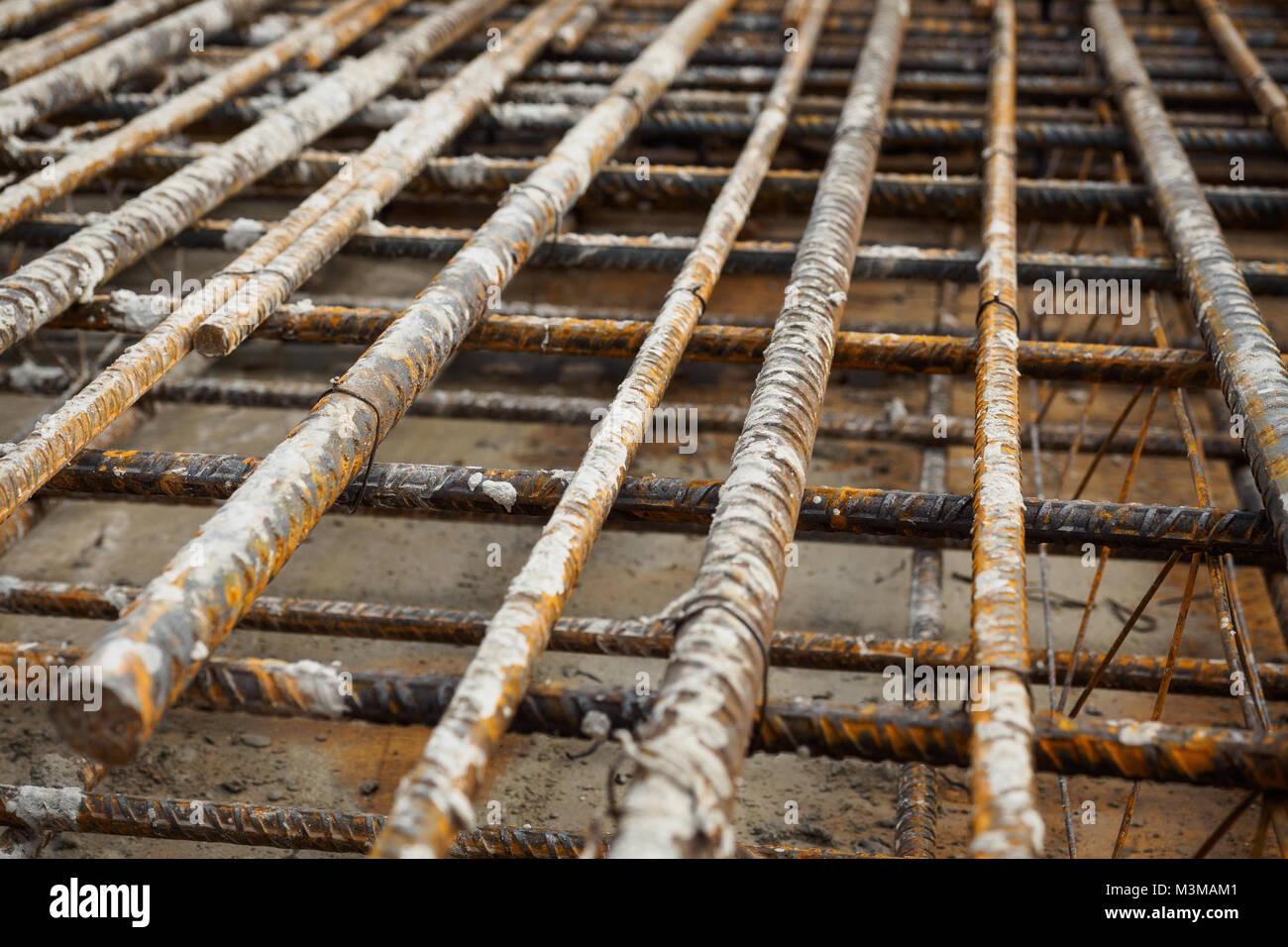 Steel Bars Construction Stockfotos & Steel Bars Construction Bilder ...
