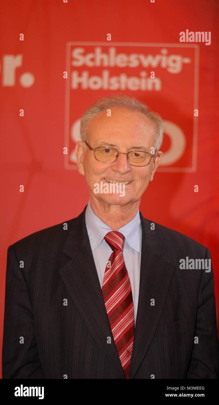 Diskussionsabend mit dem Praesidenten des Europaeischen Parlamentes a.D. Dr. Klaus Hänsch, der Europaabgeordneten Stockfoto