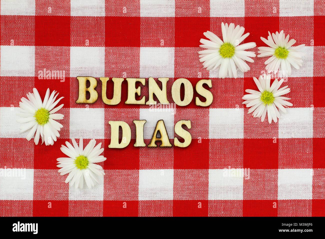 Buenos Dias Guten Morgen In Spanisch Mit Holz Buchstaben