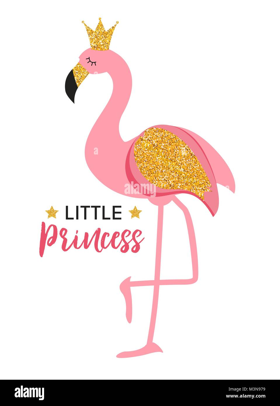 Pink Princess Crown Background Vector Stockfotos & Pink Princess ...